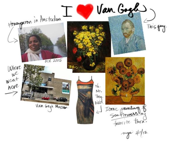Inspiration Board, Van Gogh