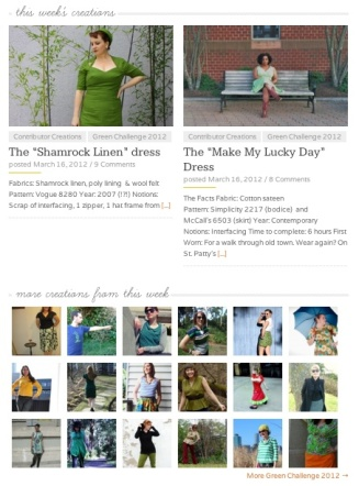 The Sew Weekly Homepage for March 16, 2012