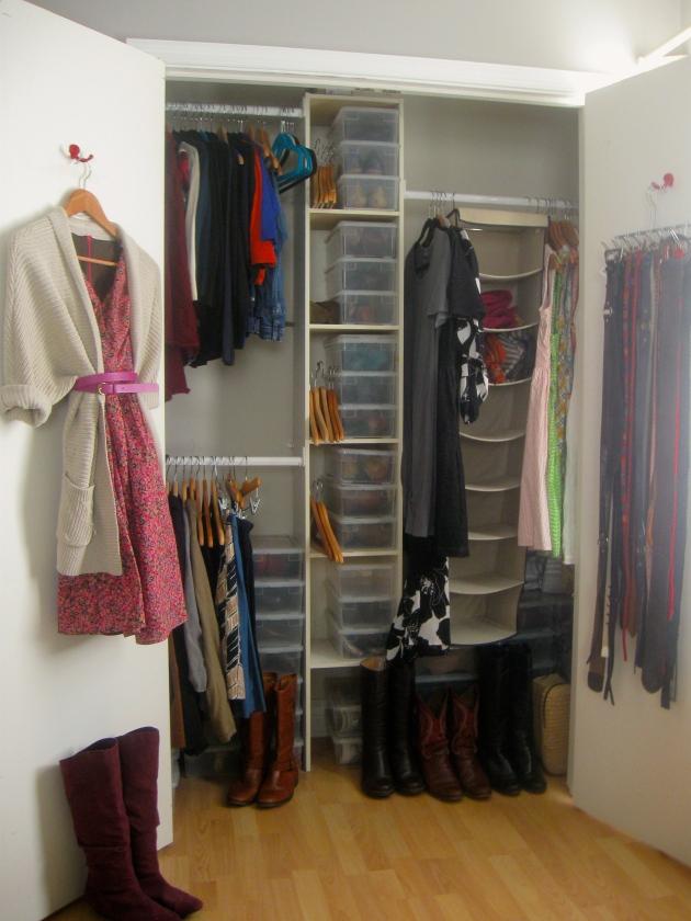 Closet after purge