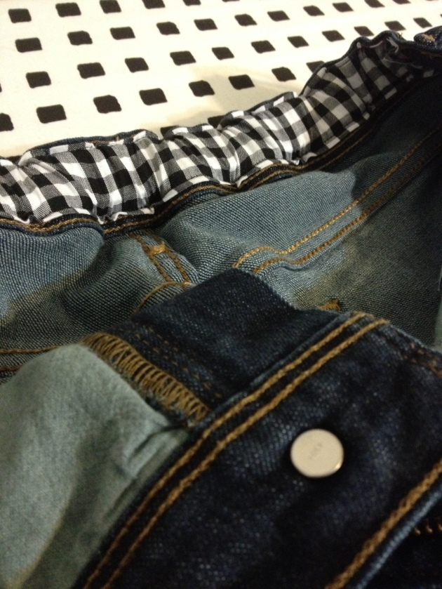 Levis Refashion, back casing