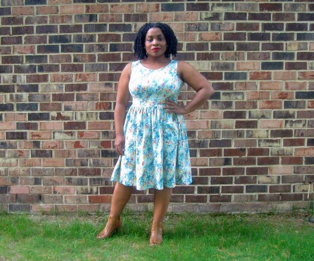 Linen Watercolor Dress