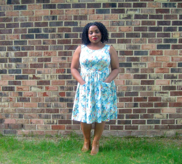 Linen Watercolor Dress
