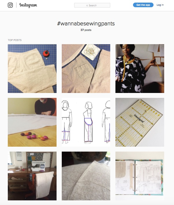#wannabesewing pants on Instagram