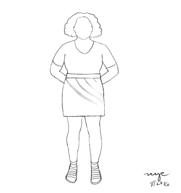 Asymmetrical_Darts_Mini_Skirt_Custom_Sewing_Pattern_Drafting_Inspiration_Personal_Croquis_Sketch_02